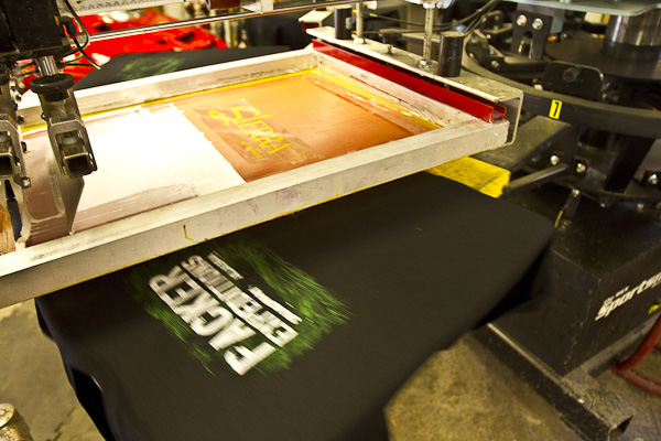 Custom screen printed graphics on apparel quality screen for Custom t shirts and embroidery